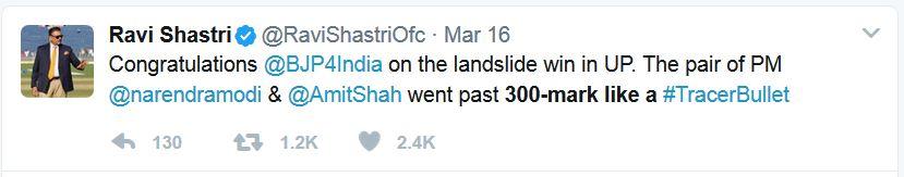 Ravi Shastri Twit